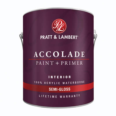Pratt Lambert Accolade Interior Paint Primer Acrylic Waterborne Semi Gloss Exclusive Paints